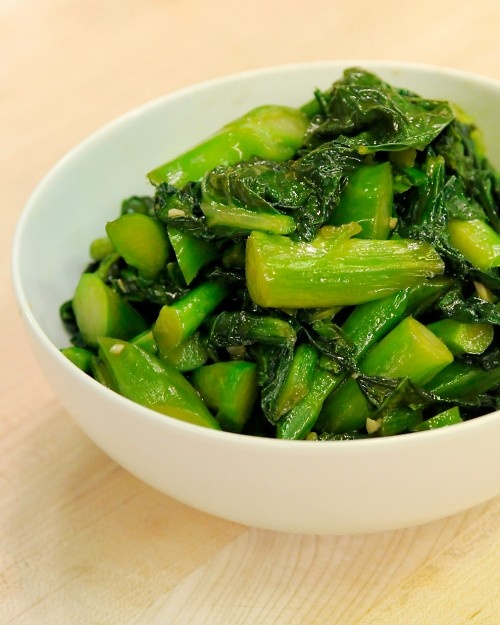 Sauteed Chinese Broccoli with Garlic | Recipe