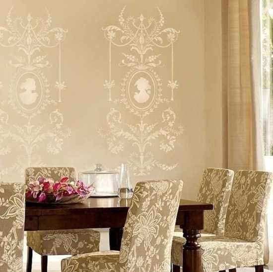 Beautiful diy interior decorating ideas using stencils and paint f