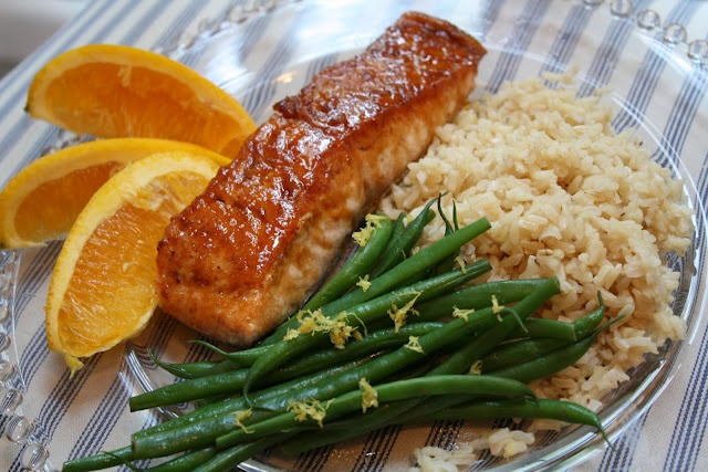 Orange Pineapple Teriyaki Salmon. So easy, so good. I add pineapple ...