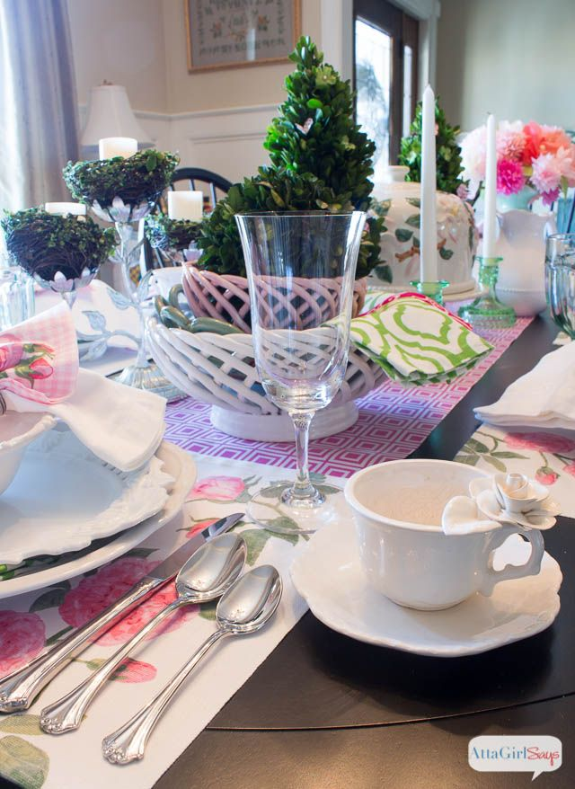 Table decorations for spring luncheon photograph atta girl