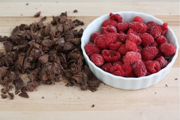 Raspberry-truffle-brownies   i macerate the raspberries yum!