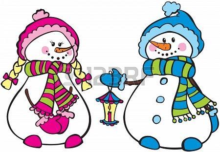... snowmen Stock Photo - 17035087 | Clip Art/Silhouette Collection