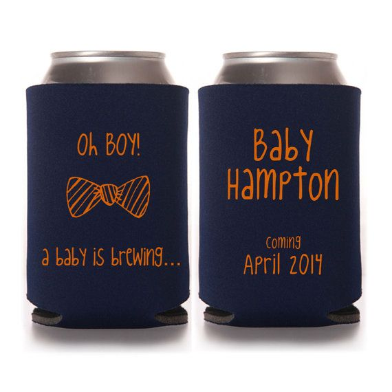 baby shower koozie favors baby shower by yourethatgirldesigns on etsy