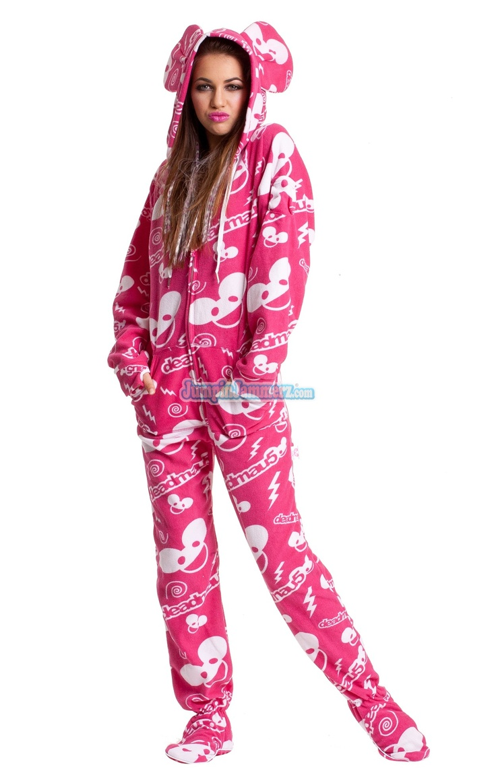 Adult footie pajamas