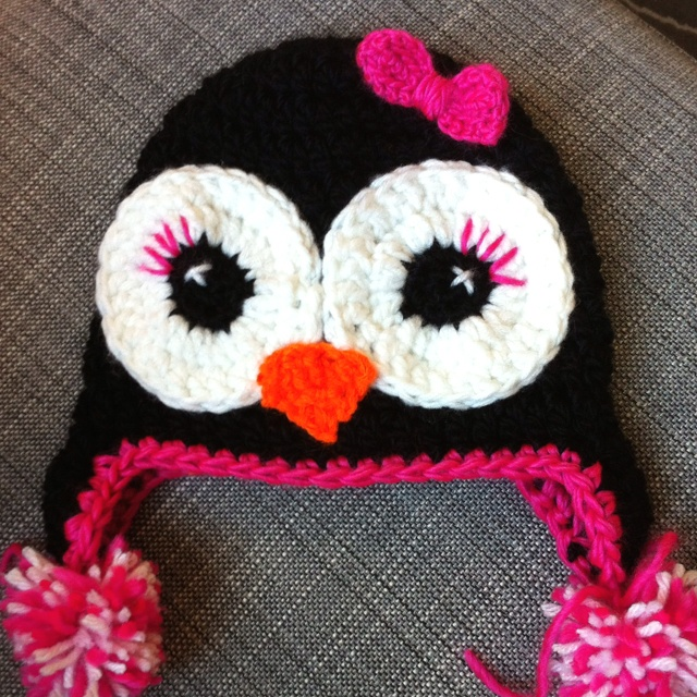 Free Crochet Pattern For Penguin Hat : Penguin hat CROCHET Pinterest