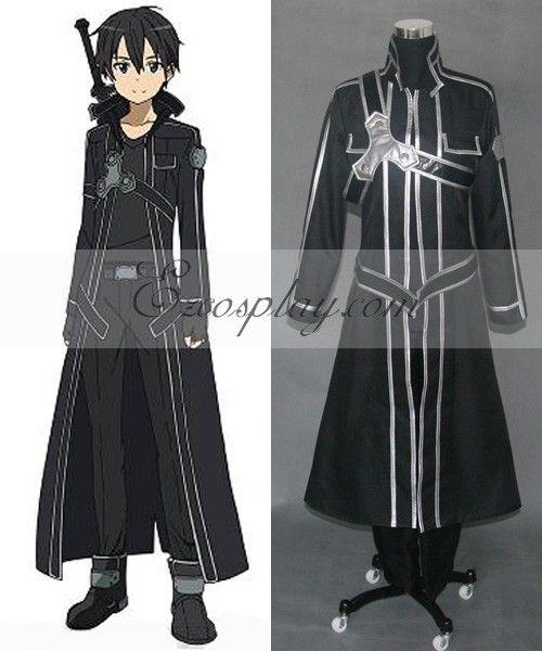 Sword Art Online Kirito Cosplay Costume   Anime   Pinterest