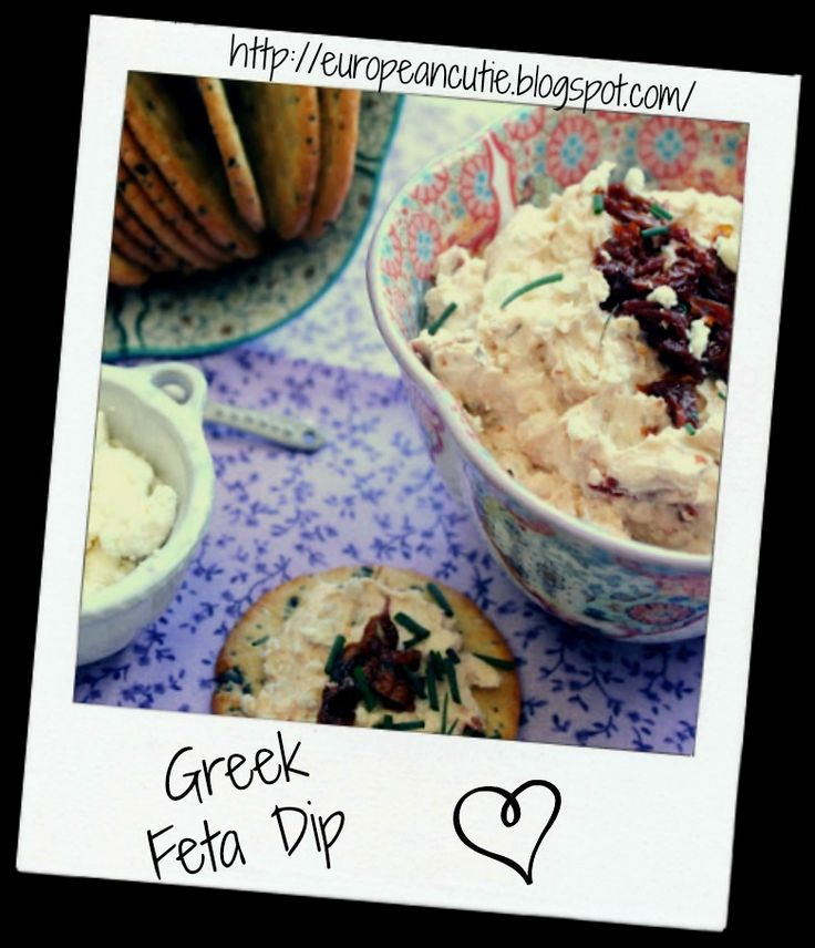 greek feta dip on MyRecipeMagic.com   Dressings and Sauce   Pinterest