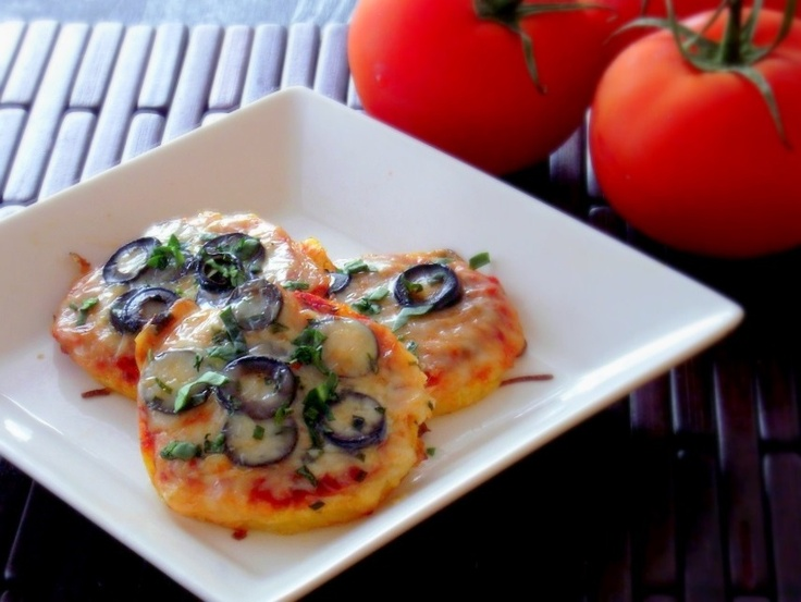 recipe polenta mini pizzas with mushrooms amp olives poor girl eats ...