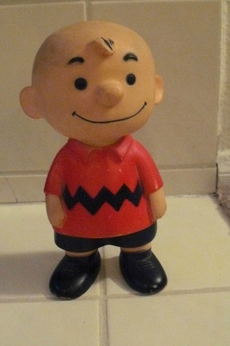 "Vintage Peanuts Snoopy 1956 Hungerford ""Charlie Brown"" Vinyl Doll"