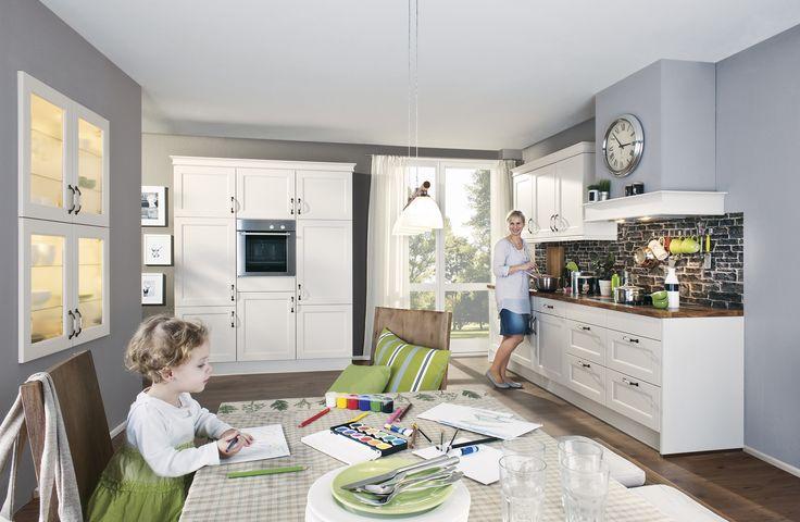 Moderne Wohnwande Bei Höffner : Moderne #Landhausküche in hellen Farben von #Nobilia erhältlich bei
