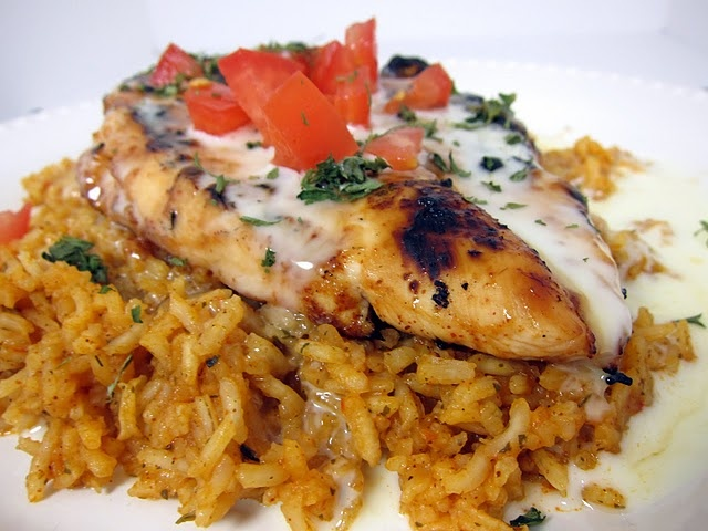 chicken cheese and rice