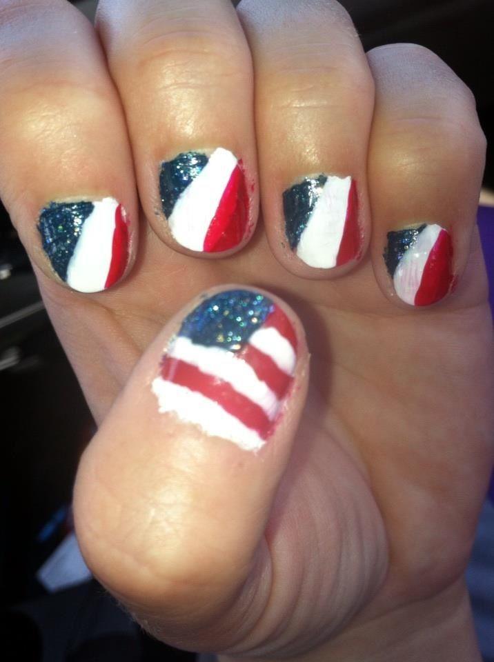 4th of july nail polish strips