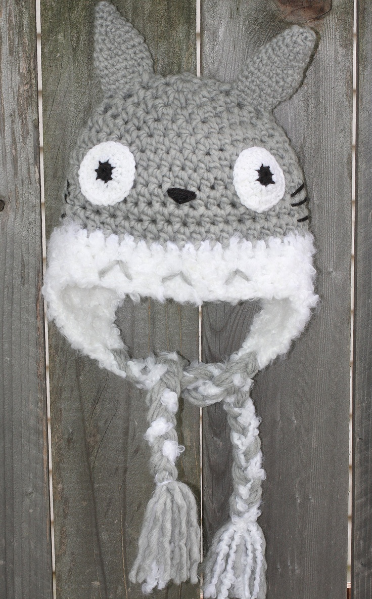 Crochet Totoro hat -Photo prop- Any size