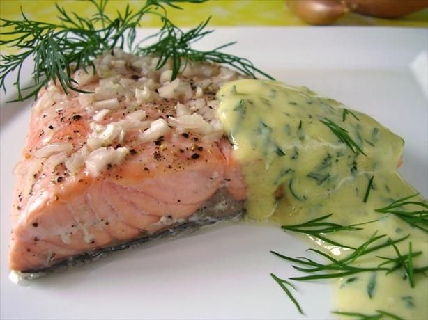 "Salmon with Mustard Sauce: ""This was absolutely the best. The salmon ..."