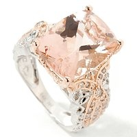 Peach sapphire with white gold plated with a rose gold overlay. I'm kinda in love