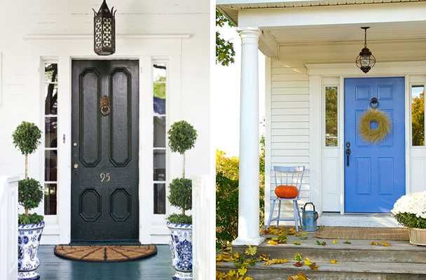 Exterior wood door decorating with paint colors to personalize house design and feng shui homes - Feng shui exterior paint colors design ...