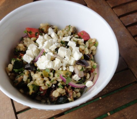 Mediterranean Eggplant and Barley Salad | Brittany Cooks | Pinterest