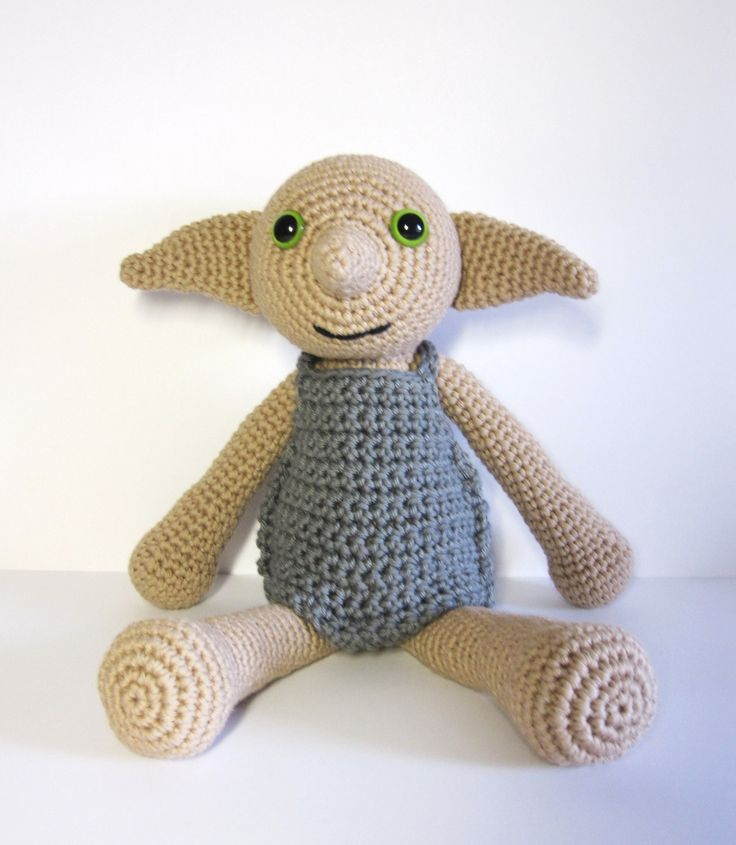 Crochet Patterns Harry Potter : Dobby the House Elf inspired amigurumi. Handmade crochet doll.