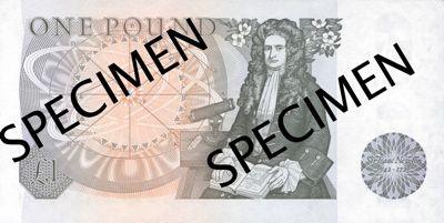 Sir isaac newton 1 british pound born in 1643 in england is