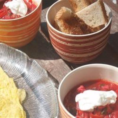 Ukrainian Red Borscht Soup | Food and Drink | Pinterest