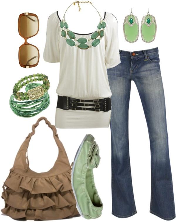 Love the sea green!