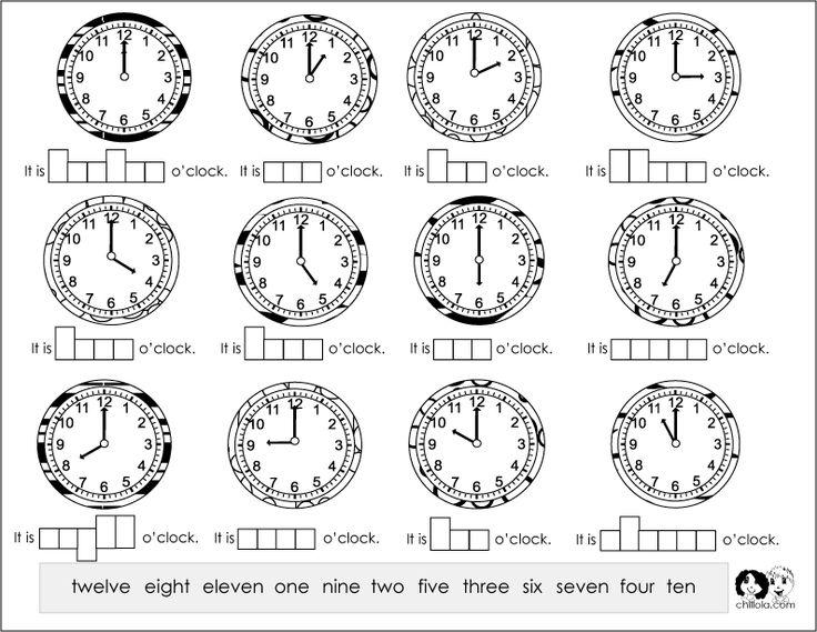 Spanish Time Worksheets | math | Pinterest
