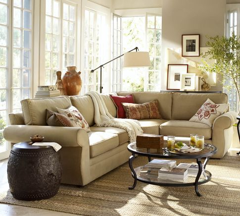 Pearce 3 Piece L Shaped Sectional With Wedge Performance