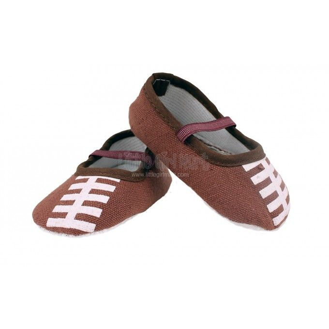 Football Baby Crib Shoes #superbowl