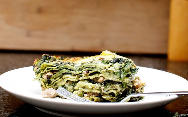 Green lasagna with lemon (while I love a rich, delicate strata as much ...