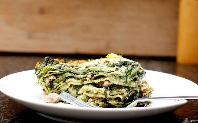 Sausage, Chard, And Lemon Lasagna Recipe — Dishmaps
