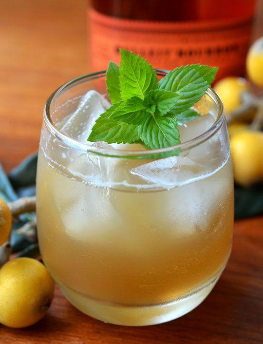 Loquat Bourbon Smash - 3 ounces loquats (approximately 6-8), halved ...