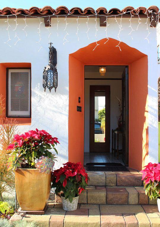 Orange entryway