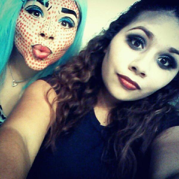 POP ART   ZOMBIE MAKEUP BY TANYA A Pop Art Zombie Makeup
