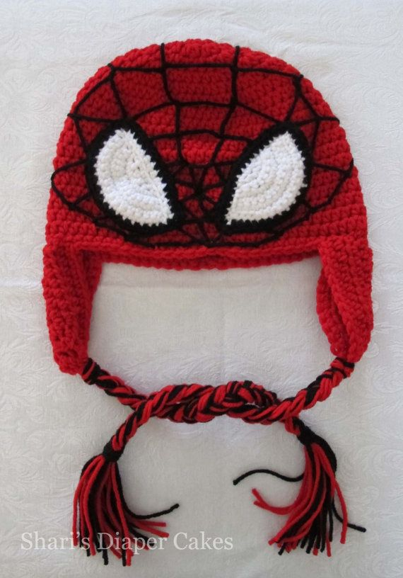 Spiderman Crochet Hat Knitting Ideas Pinterest
