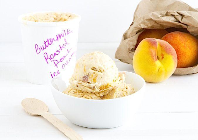 Roasted Peach Buttermilk Ice Cream | Eat: Frozen Desserts - Ice Cream ...