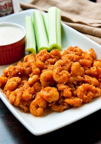 buffalo popcorn shrimp | Food | Pinterest