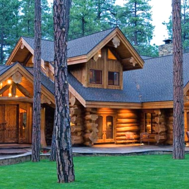 Log Homes Beautiful Log Homes Pinterest