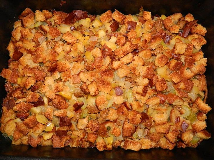 Apple and Sausage Stuffing Made this twice for family and there was ...
