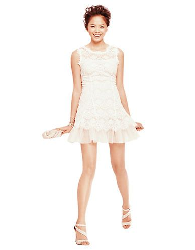 white lace dress lord and taylor my hokie wedding