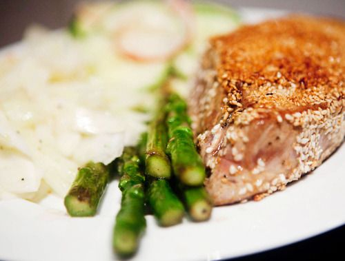 pan roasted salmon with fennel salad recipes dishmaps pan roasted ...