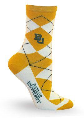 #Baylor Women's Socks -- argyle!