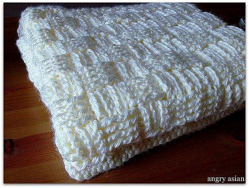Crochet Baby Blanket Basket Weave Pattern : FK: Basket Weave Baby Blanket / The Curse of the Baby ...