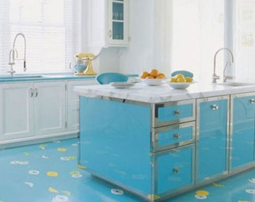 Blue Kitchen Color with White Cabinets  ikea and kitchens i like in