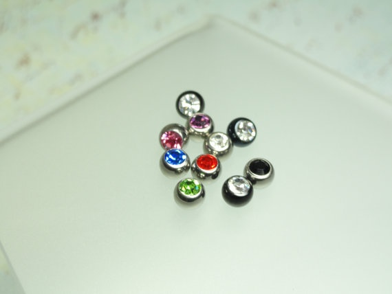 Replacent Gem Ball Top for Belly Button Ring by joolrylane on Etsy, $6.00