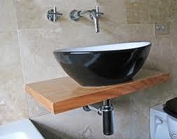 Floating Vessel Sink : Simple Floating Shelf and Vessel Sink Dream House Pinterest