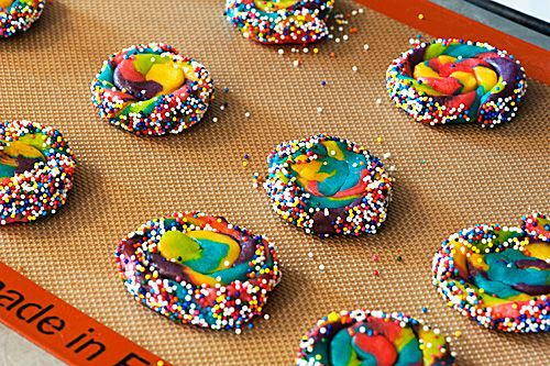 Rainbow Pinwheel Cookies.....cute for a Kids Bday Party