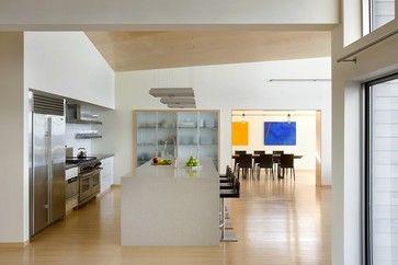 K Kitchens Ludlow Modern Beach Home Kitchen - modern - kitchen - boston - ZeroEnergy ...