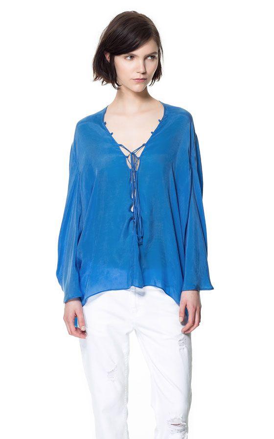 Zara Studio Silk Loose Blouse 5