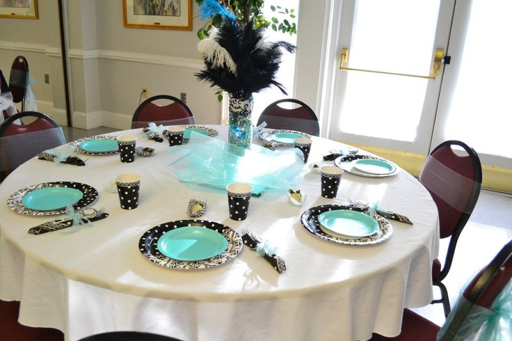 Baby shower table setting baby shower ideas pinterest Baby shower table setting