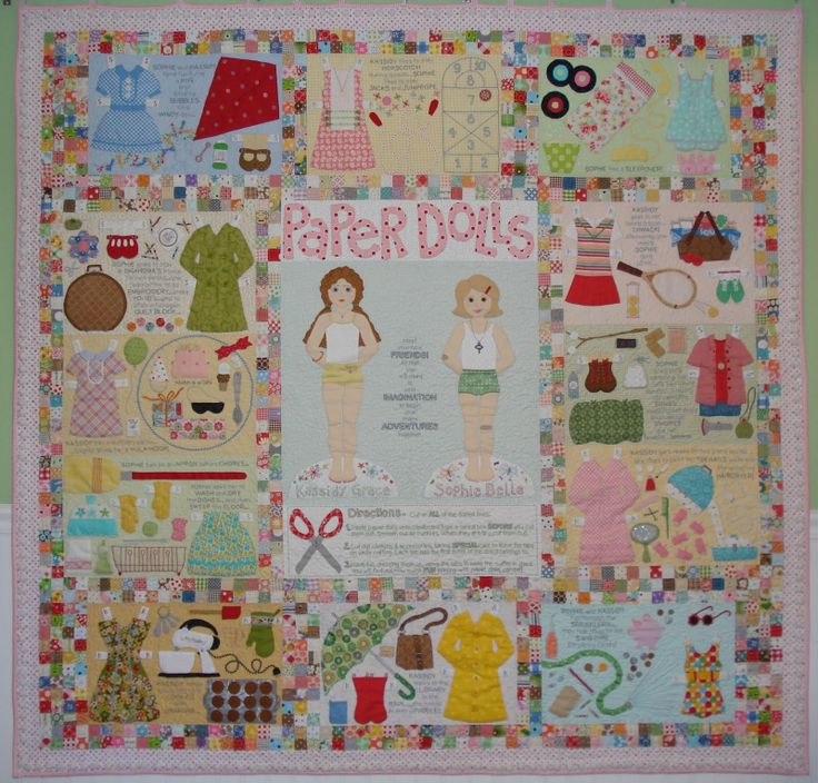 Quilting Designs On Paper : My Paper Dolls quilt pattern Quilt It Pinterest